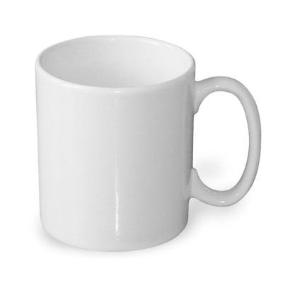 promoaxis - Caneca de porcelana branca de 300 ml.