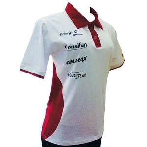 Stantex Soluções Têxteis - Camisa polo feminina em algodão com detalhes na gola e gravação personalizada.