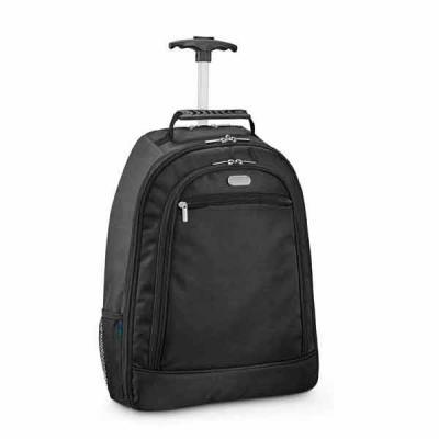 Pratic Brindes - Mochila trolley para notebook. Nylon 1680D e 300D. Com 2 rodas. Compartimento principal almofadado para notebook 15.6''. Segundo compartimento forrado...