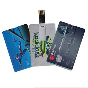 Pratic Brindes - Pen drive cartão de 4, 8 e 16Gb - personalizado em impressão digital frente e verso