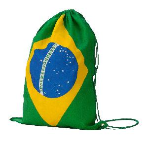 MGM Brindes - Mochila saco confeccionada em tnt com cordão duplo e impressão personalizada.