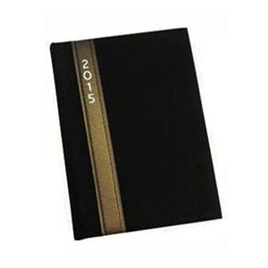 GTX Brindes - Agenda 2015 capa de couro sintético preta, 336 páginas. Medida 125mm x 174mm