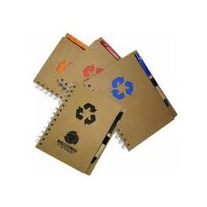 GTX Brindes - Bloco de anotações ecológico com caneta, 80 páginas.