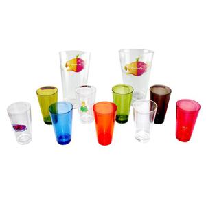 GTX Brindes - Copos em acrílico em diversas cores e tamanhos, gravados em silkscreen.