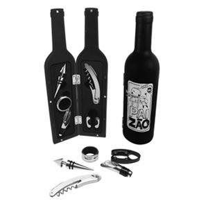 GTX Brindes - Kit vinho em formato de garrafa.
