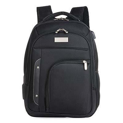 Click Promocional - Mochila em nylon 1680D na cor preta; 01 Bolso Grande com compartimento acolchoado para notebook de até 15,6'; 01 Bolso Médio Frontal com zíper; 01 Bol...