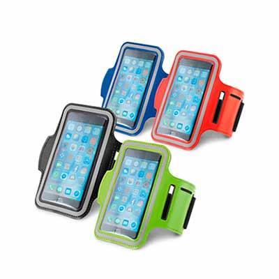 Click Promocional - Braçadeira para Celular 97206  Soft shell de alta densidade. Com elementos refletivos e fecho ajustável. Para smartphone 5''. 430 x 150 mm