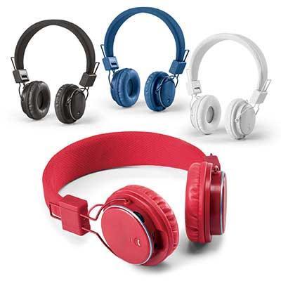 Click Promocional - Fone de Ouvido Dobrável 97365 ABS. Ajustáveis. Com bluetooth e leitor de cartões TF. Autonomia até 4 h. Função para atender chamadas, controle de volu...