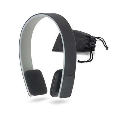Click Promocional - Fone de ouvido. ABS. Ajustáveis. Com acabamento emborrachado e bluetooth. Autonomia até 5 h. Função para atender chamadas, controle de volume e conexã...