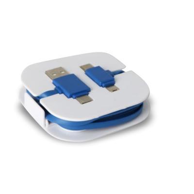 Maggenta  Produtos Promocionais - Cabo USB com Suporte para Celular Personalizado 1