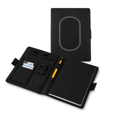 Maggenta  Produtos Promocionais - Caderno Com Carregador Wirelees 4000 mah Personalizado 1