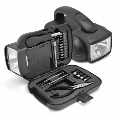 Maggenta  Produtos Promocionais - Caixa de Ferramenta com Lanterna Personalizada 1