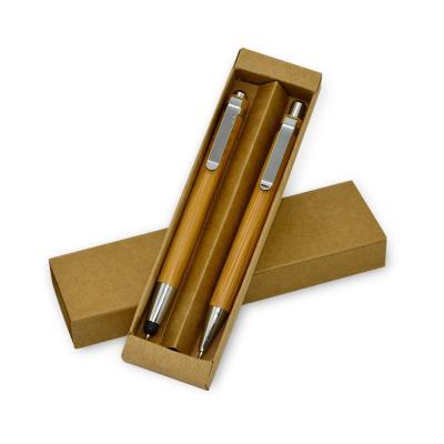 Maggenta  Produtos Promocionais - Conjunto Caneta e Lapiseira em Bambú Promoconais 1