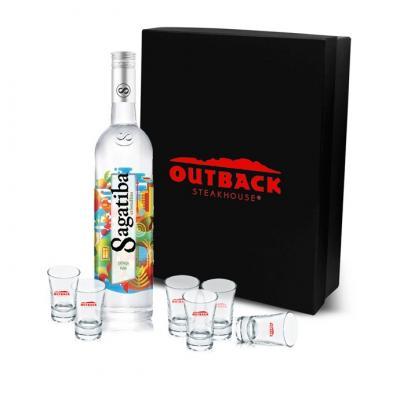 Maggenta  Produtos Promocionais - Kit Bebida com Cachaça e copos Personalizado 1