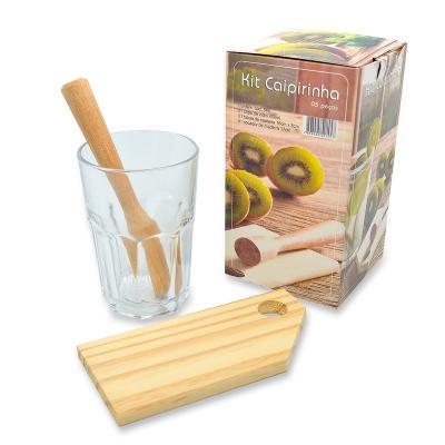 Maggenta  Produtos Promocionais - Kit Caipirinha Personalizado 3 peças 1