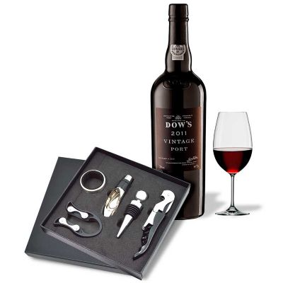 Maggenta  Produtos Promocionais - Kit vinho com 5 pe�as personalizado, Possui 5 pe�as sendo: 1 Saca Rolha de dois est�gios, 1 corta gotas,1 tampa de bico, 1 bico para servir e 1 cortad...