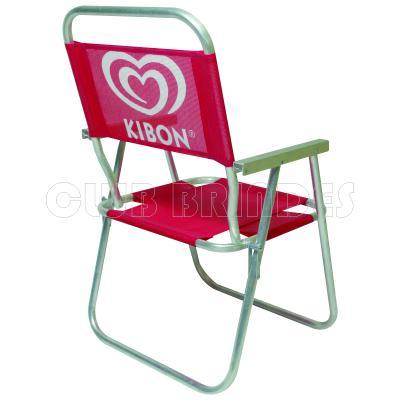 Club Brindes - Cadeira de praia de alumínio