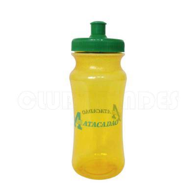club-brindes - Squeeze Pet Ecológico com capacidade para 620 ml. Disponível em várias cores. Gravação da logomarca em 1 cor já inclusa.  Peso Aproximado: 60g
