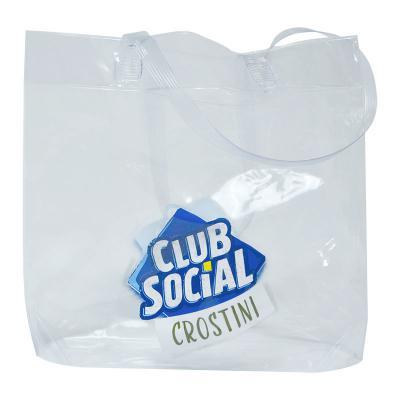 Club Brindes - SACOLA DE PVC CRISTAL