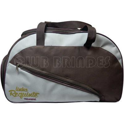 Club Brindes - Bolsa de viagem personalizada com bolso lateral
