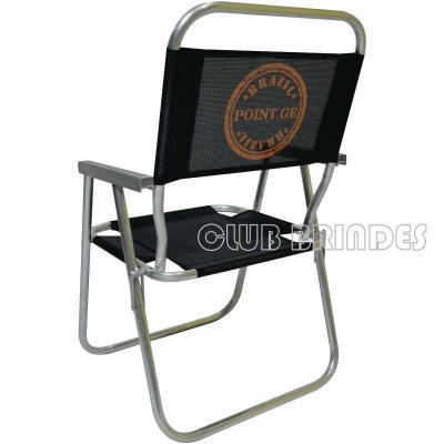 Club Brindes - Cadeira de praia de alumínio modelo alta