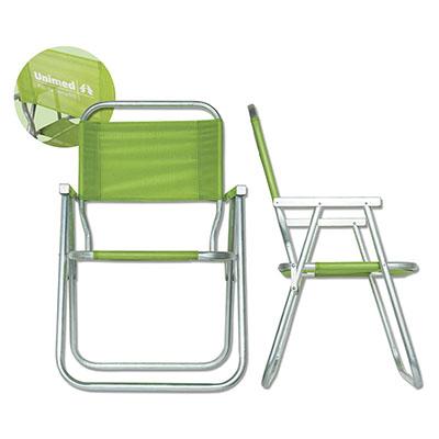 Club Brindes - Cadeira de Praia de Alumínio, diversas cores, modelo alta