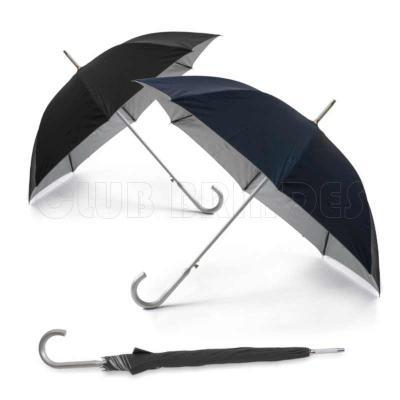 Club Brindes - Guarda chuva. Poliéster 190T. Haste e pega em alumínio. Abertura automática. Disponível em várias cores. Gravação da logomarca em 1 cor aplicada em 2...