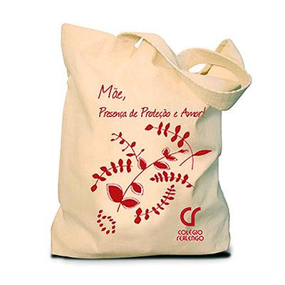 Finaú Brindes Promocionais - Sacola ecológica de algodão crú. Ecobags confeccionadas em tecido 100% algodão na cor crua, várias medidas, gravação silk.