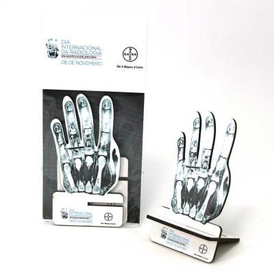 Printas - Porta-celular com impressão digital,em MDF, recorte laser. Sua marca sempre presente na mesa do seu cliente.