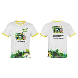 Enjoy Gift - Camiseta em Malha Cardada e aplicação em transfer ou sublimação.