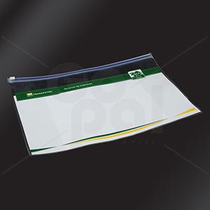 Gopal Arte em Papel - Pasta zip zap (PVC 0,20 mm - cristal) medidas: 37 x 26 cm. Impressão e medidas personalizadas