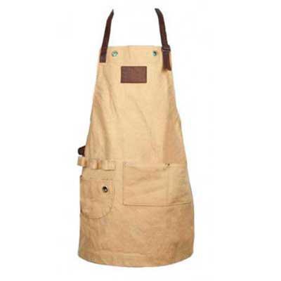 Layout Brindes - Avental de churrasqueiro convencionado em Lona ou Jeans com detalhes em couro