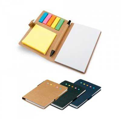 Layout Brindes - Bloco de anotações com stick e mini-stick