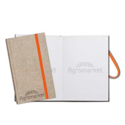 Layout Brindes - bloco de anotação   folha  branca  com logo