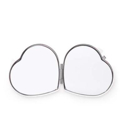 Layout Brindes - Espelho de bolsa formato coração, impressão 1 cor silk