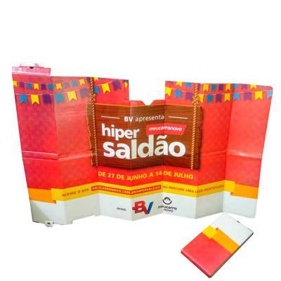 Layout Brindes - Tapa-sol confeccionado em plástico e papel com textura exclusiva formato aberto 1,12 x 70,5 cm, fechado 15 x 30 cm, com impressão em UV, tinta de altí...