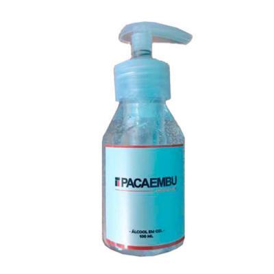 Layout Brindes - Álcool  gel 100 ml.  Tampa com  válvula - personalização rótulo.