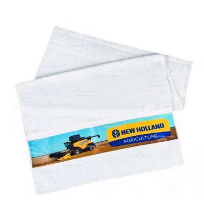 Layout Brindes - Toalha fitness em algodão prensada ou normal com impressão em Silk ou bordado.