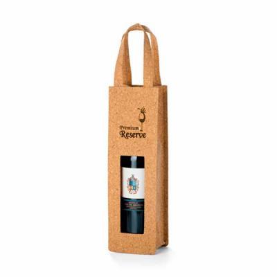Nexo Brindes - Sacola Para Garrafa de Vinho Ecológica Personalizada  Sacola para 1 garrafa. Cortiça.  100 x 330 x 100 mm  SUA MARCA APLICADA EM: Serigrafia
