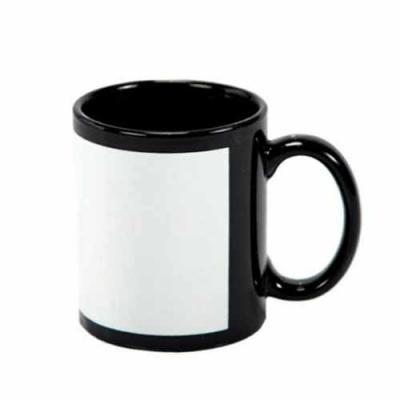 Nexo Brindes - Caneca de Cerâmica com interior e exterior preto com Tarja Branca  Dimensões: Altura: 9 cm    Diâmetro: 8 cm  Área de Gravação: 19x8 cm  Capacidade: 3...