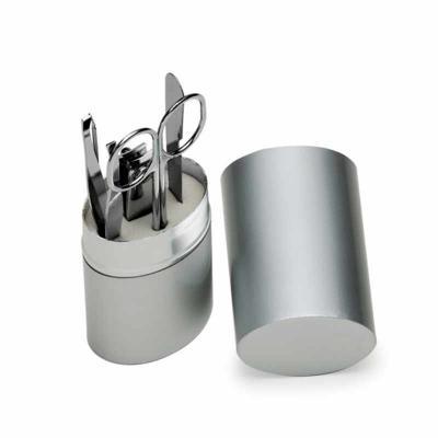 MDM Brindes - Kit Manicure 5 peças Estojo Alumínio