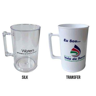 Sertha Brindes - Caneca Plástica 450ml - Gravação Silk e Transfer