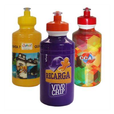 Sertha Brindes - Squeeze plástico com gravação personalizável.