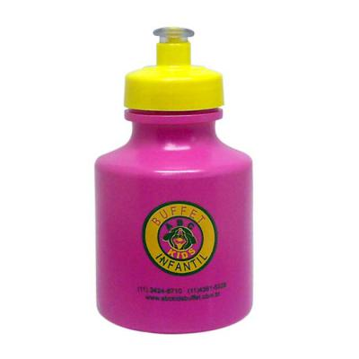 Sertha Brindes - Squeeze 300ml plástico com gravação em Transfer ( sem limite de cores ) Squeeze plástico fabricado em polietileno (PE), com tampa de rosca e bico em P...