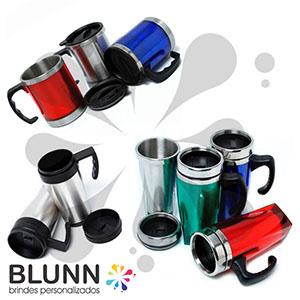 blunn - Caneca térmica em alumínio, diversos tamanhos e modelos