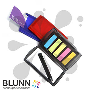 Blunn - Bloco de anotações portátil com sticky-notes, minicaneta, 7,5 cm x 11,5 cm