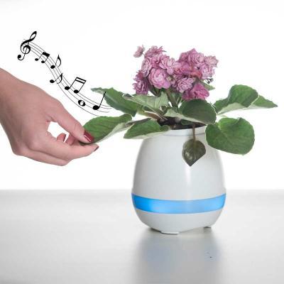 Brindez Brindes Promocionais - Caixa de som vaso com sensor e Bluetooth