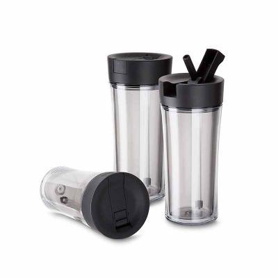 Brindez Brindes Promocionais - Copo plástico parede dupla 550 ml com bico e canudo  Plástico Utilizado: AS (Estireno de acrilonitrilo)  Medidas: 20 x 9  Peso do produto: 324Gr  Emb....