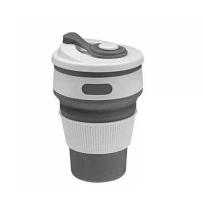 Brindez - Brindes Promocionais - Copo retrátil com tampa silicone