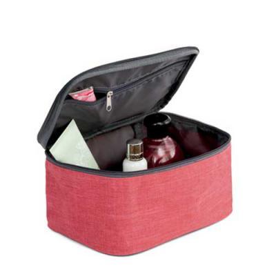 EWOX Promocional - Nécessaire. 300D de alta densidade. Com pega almofadada. Interior forrado e bolso interior com zíper. 200 x 115 x 140 mm